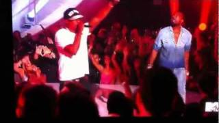 kanye west and jay z performance got crashed by a random dude on mtv 2011 award show