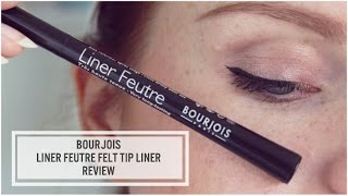 Bourjois Felt Tip Eyeliner Review & Demo || Lilac Ghosts