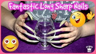 NEW SPECIAL ASMR video ever! VERY LONG AND SHARP NAILS scratch HARD a little glass. LOUDLY sounds