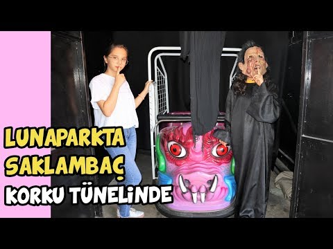 LUNAPARKTA SAKLAMBAÇ OYNADIK | KORKU TÜNELİNE SAKLANDIK !! - Eğlenceli Çocuk Videosu BF