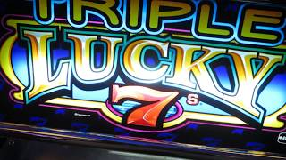 Old school triple lucky slot play !!!