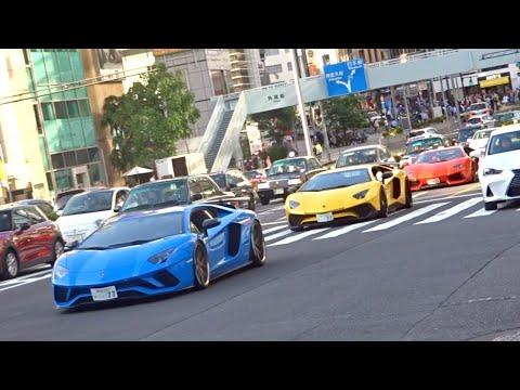 【東京】スーパーカー目撃 加速サウンド!/Supercars in Tokyo. AvantadorSV, Huracan, SpecialeA, BAC MONO and more!