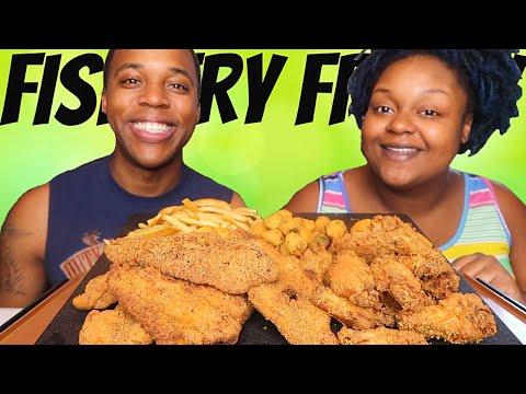 FISH FRY FRIDAY MUKBANG!!! FRIED CATFISH + FRIED CHICKEN + OKRA + FRIES MUKBANG 먹방 EATING SHOW