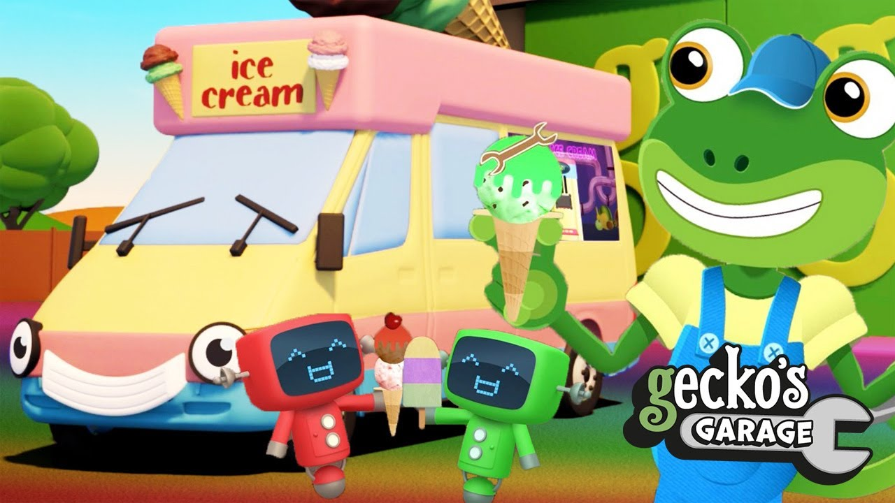 Vicky The Ice Cream Truck Colours|Gecko's Garage|Truck Cartoon|Early Education|Toddler Fun Learning
