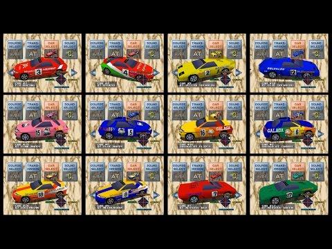 [初代] リッジレーサー全車(デビルカー「#13 13th RACING」含む)
