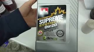 Petro-canada Supreme Synthetic 0W-20 Dexos1 Gen2 видео приемки в лаборатории УРЦТЭиД