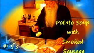 How To Make Potato Soup With Smoked Sausage 1of3