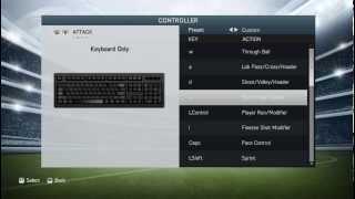 FIFA 14 Keyboard Settings
