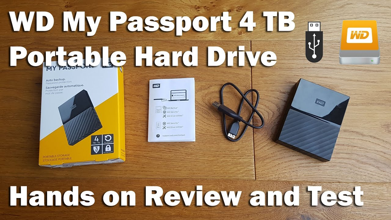 WD My Passport 4 TB Portable Hard Drive [Hands on Review and Test]