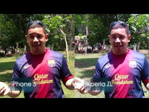 Sony Xperia ZL HDR vs iPhone 5 Normal Video