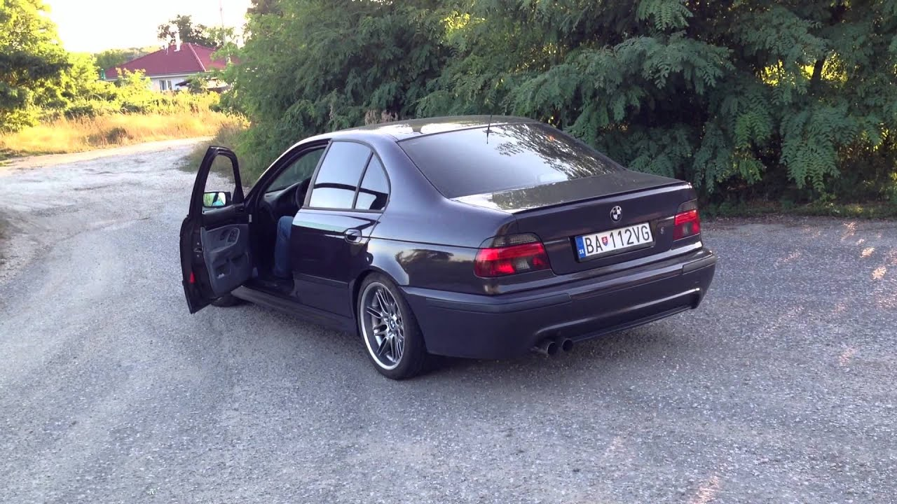 Free Flow Exhaust >> BMW E39 540i full custom exhaust - revving vol.2 - YouTube