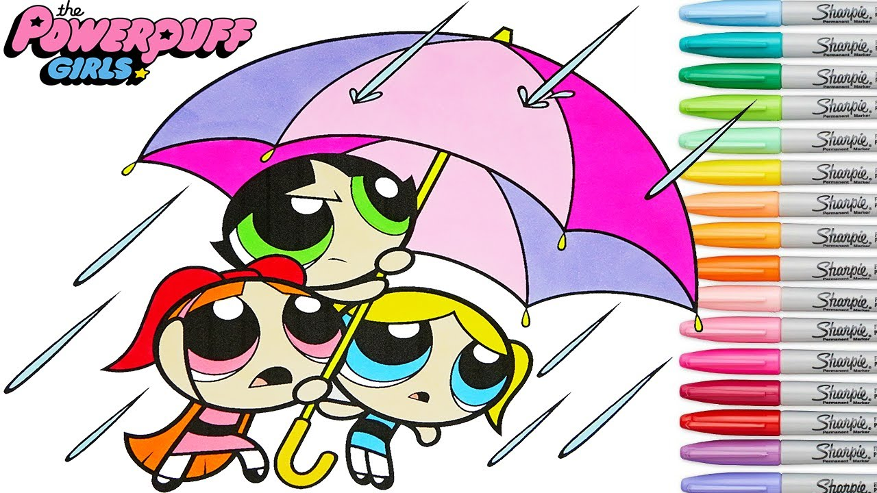Powerpuff Girls Coloring Book Pages Blossom Buttercup Bubbles PPG ...
