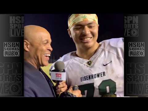 EISENHOWER SATAOA LAUMEA INTERVIEW - LIVE HIGH SCHOOL FOOTBALL BROADCAST & LIVE STREAM