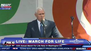 FNN: Vice President Mike Pence Speech March For Life 2017 Washington DC