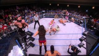 Knux, Crazzy Steve and Rebel vs Robbie E, Jessie Godderz and Velvet Sky (Sept 10, 2014)