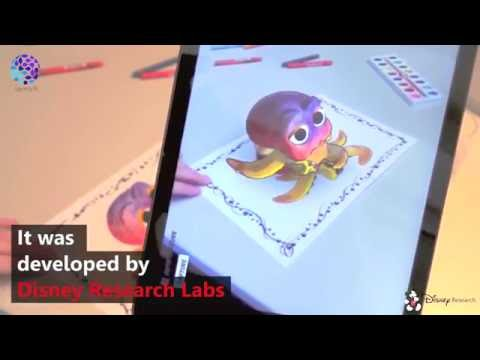 Play with 3D Mickey Mouse from a 2D cartoon book - Disney research labs