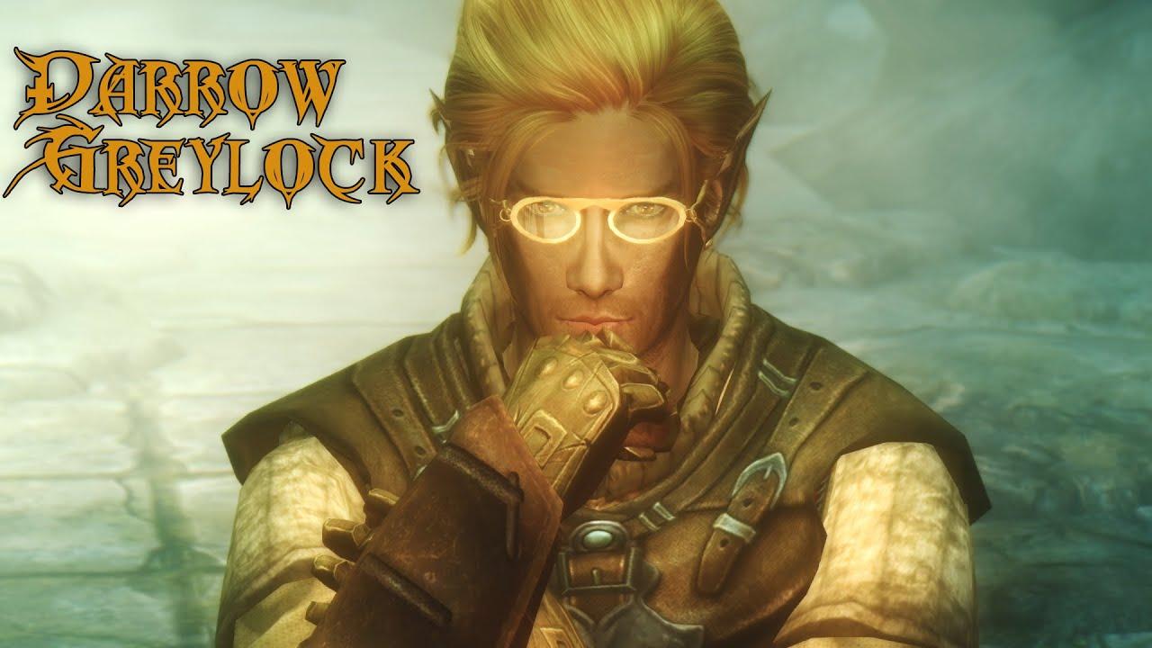 Darrow Greylock Mage of Winterhold Elven Male Custom Voiced