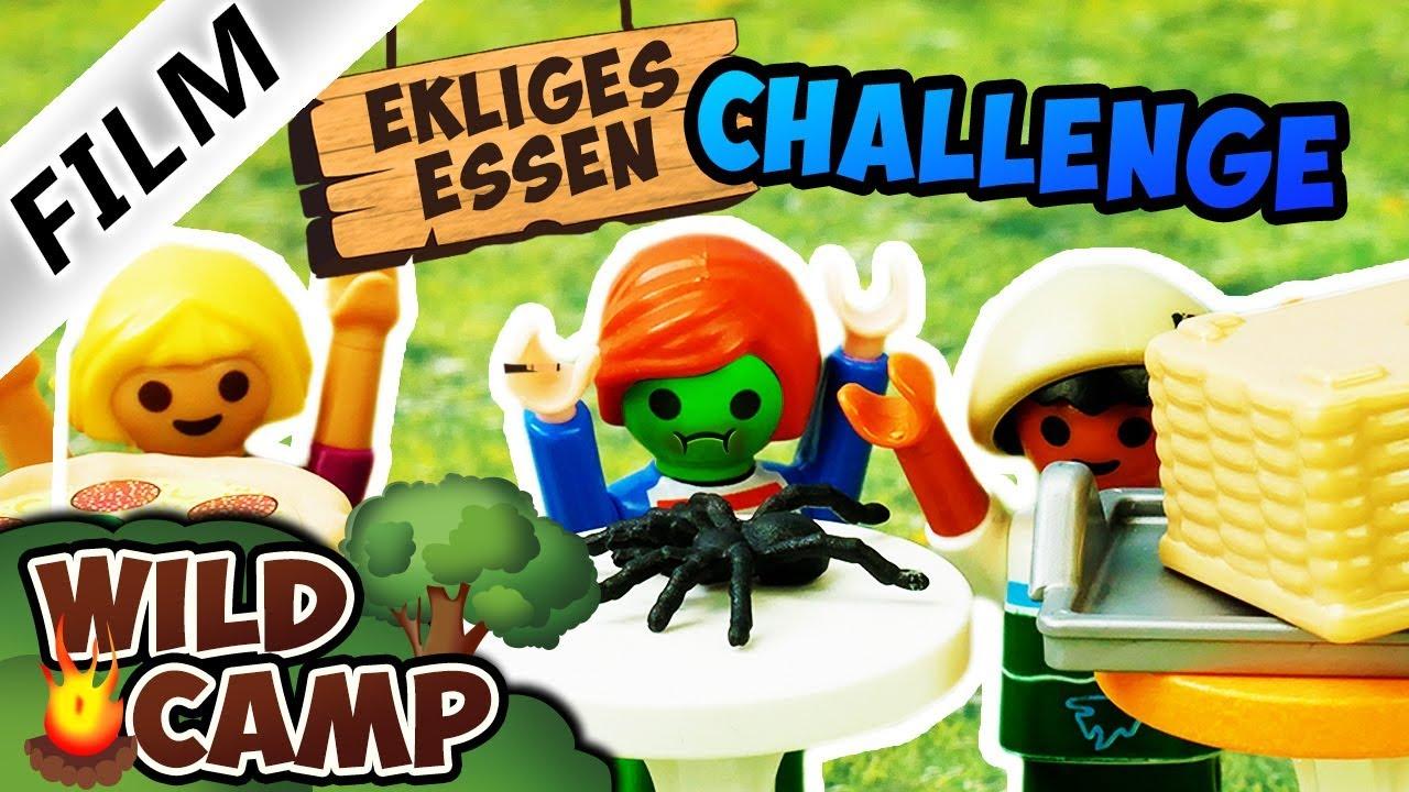 Playmobil Film deutsch EKLIGES ESSEN CHALLENGE Isst Julian Vogel eine echte Spinne? Wild Camp Serie