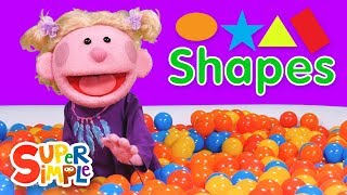 Learn About Shapes | Oval, Star, Triangle, Rectangle | Ball Pit for Kids
