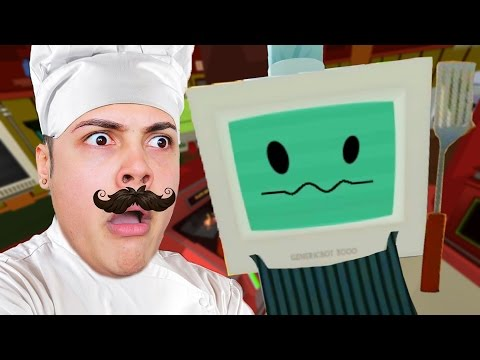 HOW TO COOK FOOD IN VIRTUAL REALITY  !!!  Gourmet Chef (Job Simulator HTC VIVE)