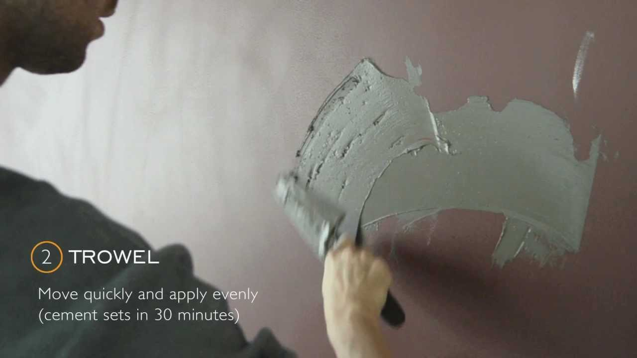 Diy Cement Wall Youtube