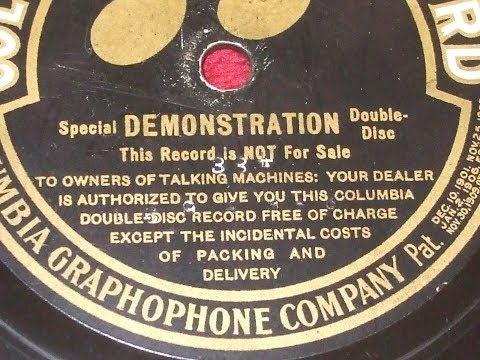 Rare talking machine industry photos--Columbia advertising double-disc 1910 Frank C. Stanley