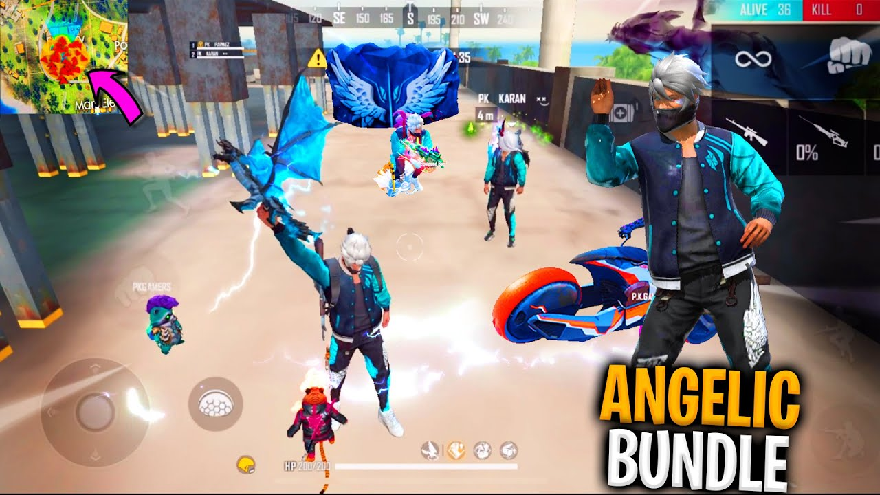 Garena Free Fire King Of Factory Fist Fight With Angelic Bundle 18 Kills Total In freefire PK GAMERS