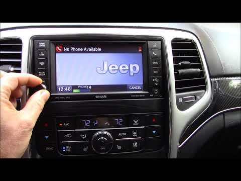 Pairing Phone In 2012 Jeep Grand Cherokee SRT8 WK2 When Locked Out By Input 4 Digit Security Pin