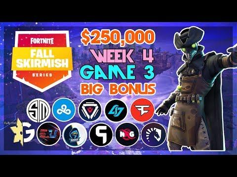 $250,000 🥊Big Bonus Fall Skirmish🥊 Week 4Game 3 Fortnite