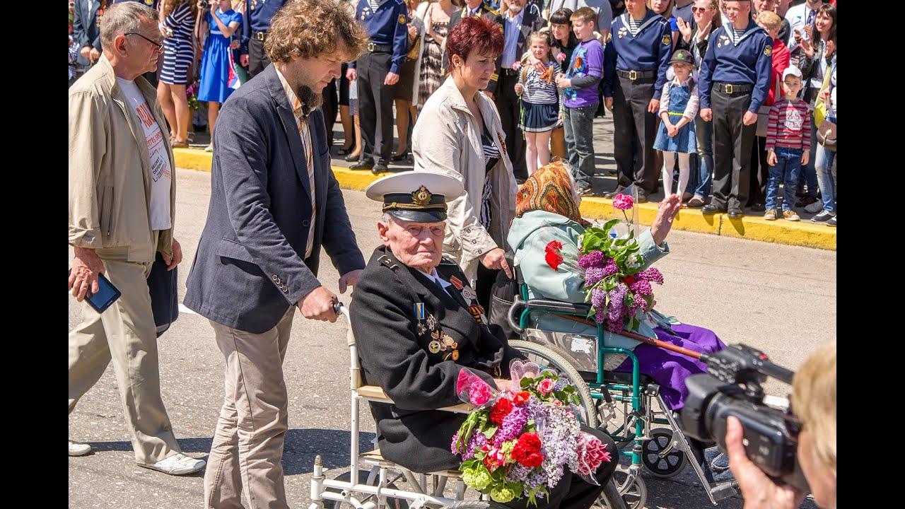 Шествие ветеранов в Севастополе 9 Мая 2015 года
