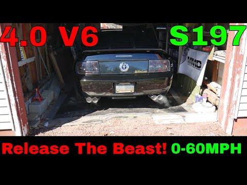0-60 4.0 V6 Mustang 278 Peak HorsePower Complete Data Log Run & Test With Mod List