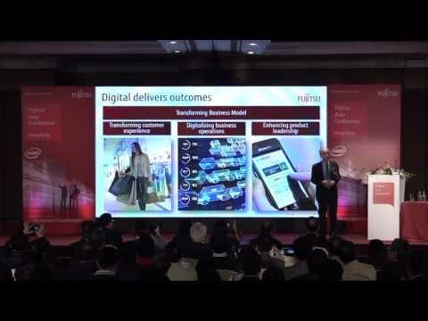 The keynote of Fujitsu Asia Conference Hong Kong