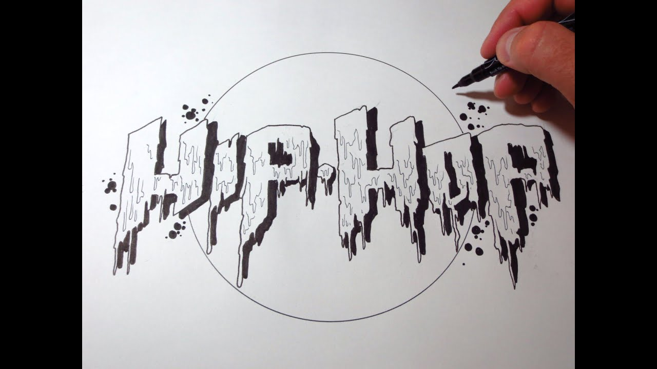Dripping Graffiti How To Draw Hip Hop Letters Youtube