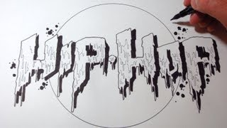 How To Draw Hip Hop Dripping Letters