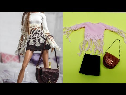 Cute & easy DIY Barbie Clothes ❤️ BARBIE HACKS AND CRAFTS diy doll clothes