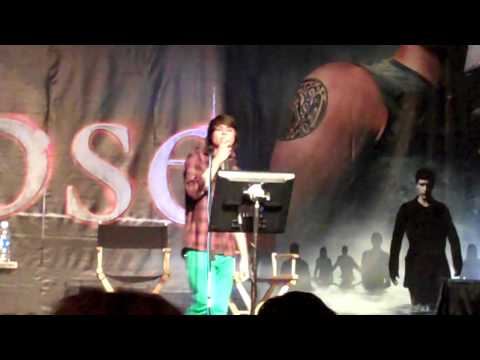 Kiowa Gordon sings karaoke at the Los Angeles Official Twilight Convention