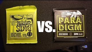 Ernie Ball PARADIGM vs. Regular Slinky - Tone Comparison
