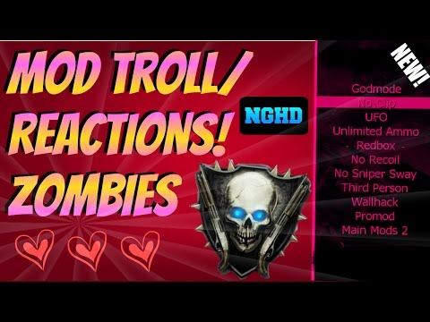 Black Ops 2 Zombies Mod Troll /Reactions! (Fun Modded Lobby Reactions!)
