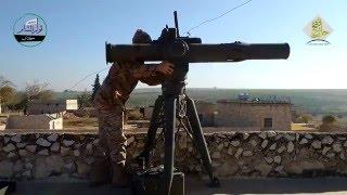 سوريا اليوم: #حلب تفجير دبابة T90 لقوات الأسد على جبهة خلصة بصاروخ تاو