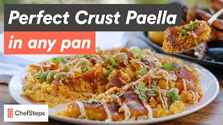 Perfect Crust Paella In Any Pan