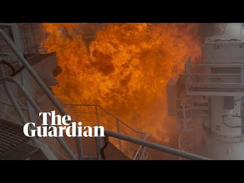 MPV Everest fire: fireball engulfs Antarctic supply ship