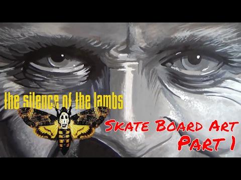 custom-skateboard-painting-|-silence-of-the-lambs-fan-art-'hannibal-lecter'-|-part-1