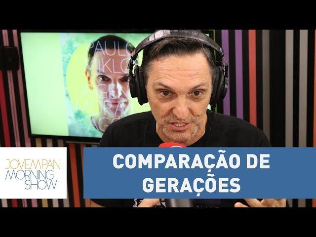 """""""O Brasil está melhor, a juventude nem se fala"""", afirma Miklos sobre comparação de gerações."""