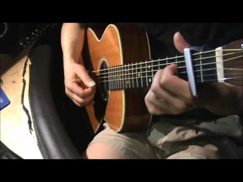I Think Its Going To Rain Today- acoustic guitar - chord - YouTube