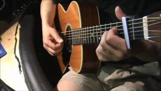 I Think Its Going To Rain Today- acoustic guitar - chord Video