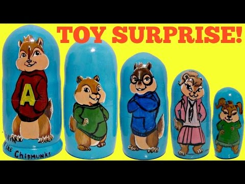 Alvin & the Chipmunks! The Road Chip Nesting Dolls, Stacking Cups