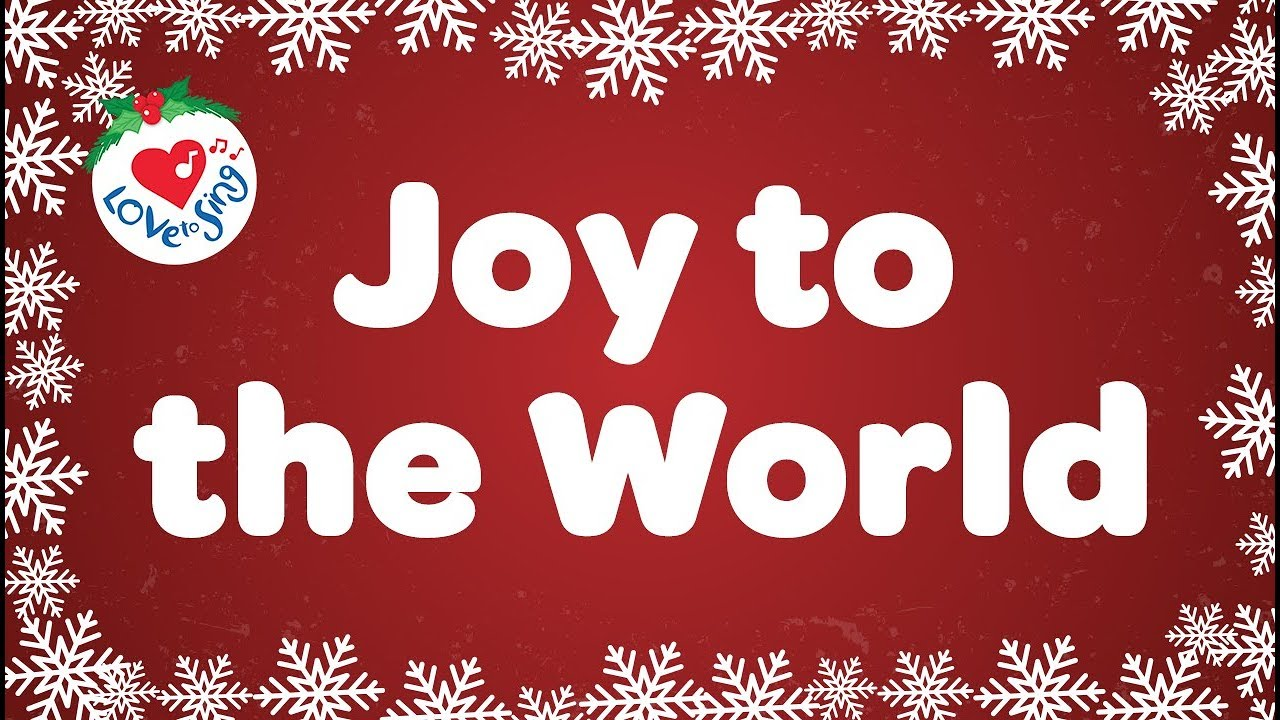 Christmas Carols Youtube.Joy To The World With Lyrics Christmas Carol Song Children Love To Sing