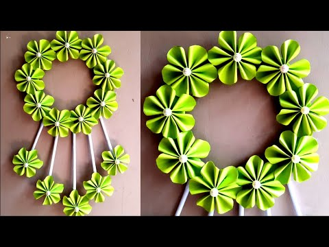 DIY Paper Craft Ideas | Genius Paper Flower Wall Hanging Decoration | Paper Flower Wall Hanging