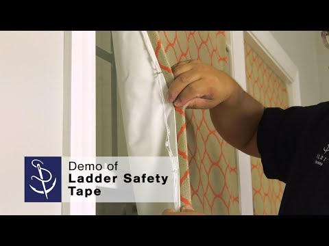 Demo Of Ladder Safety Tape For Corded Window Shades
