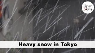 Heavy snow in Tokyo - The Japan News